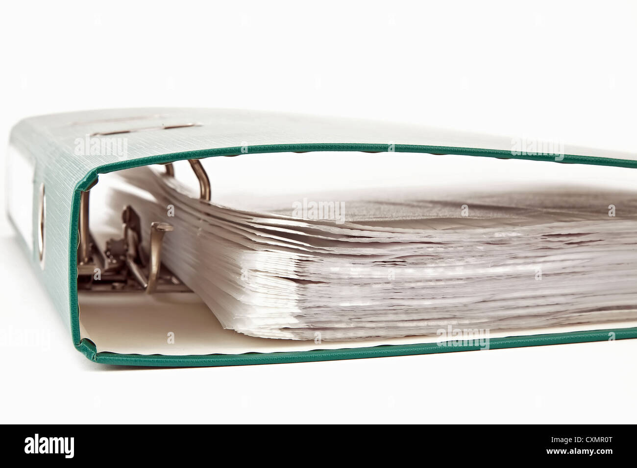 Close up of file with documents - Stock Image