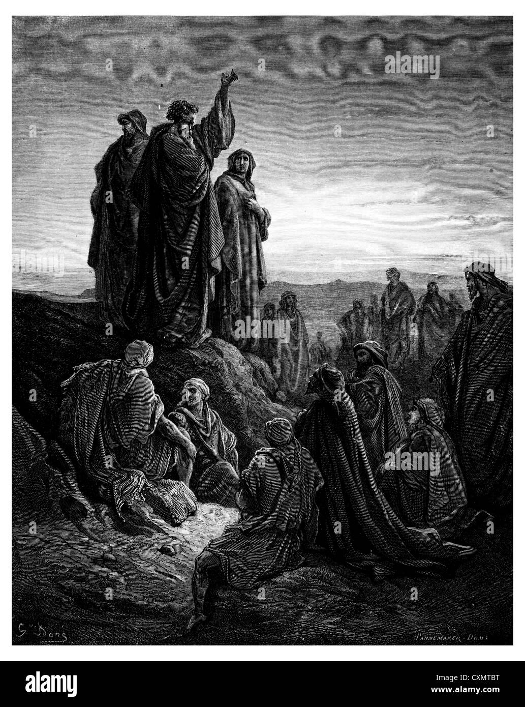 The apostles preached the gospel - Stock Image