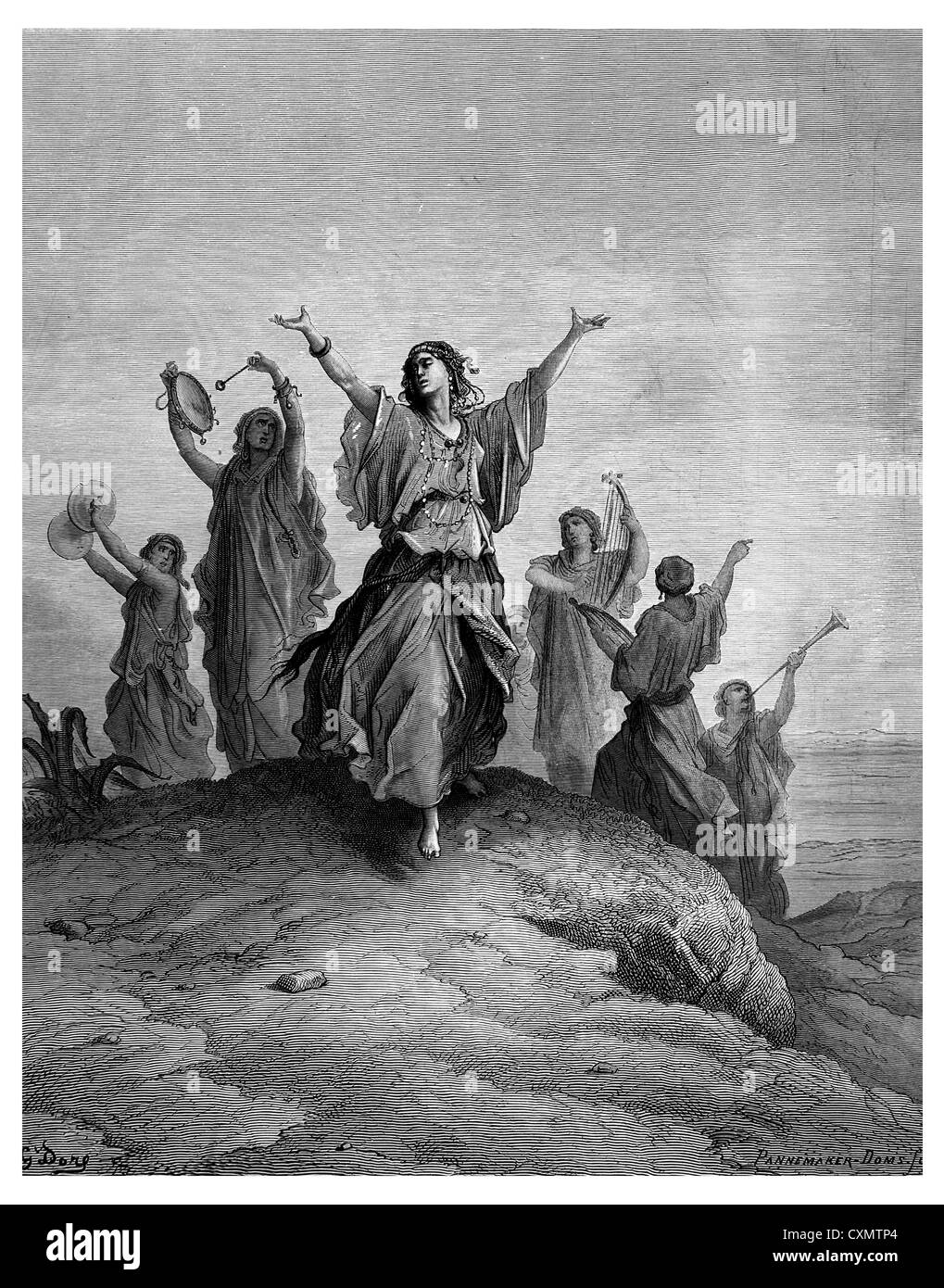 Jephthah s daughter goes to meet her father - Stock Image