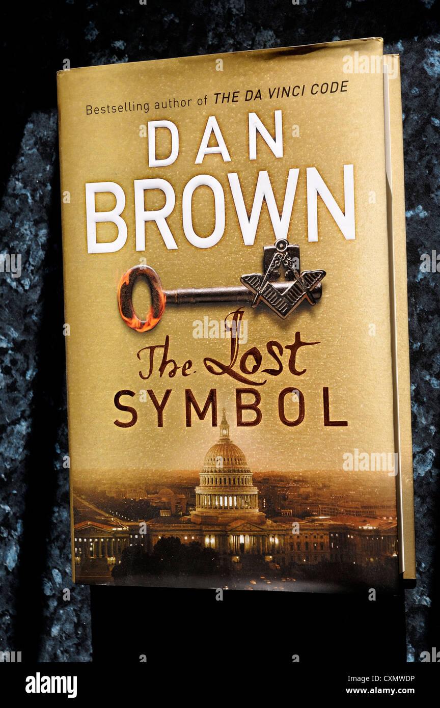dan brown the lost symbol book cover - Stock Image
