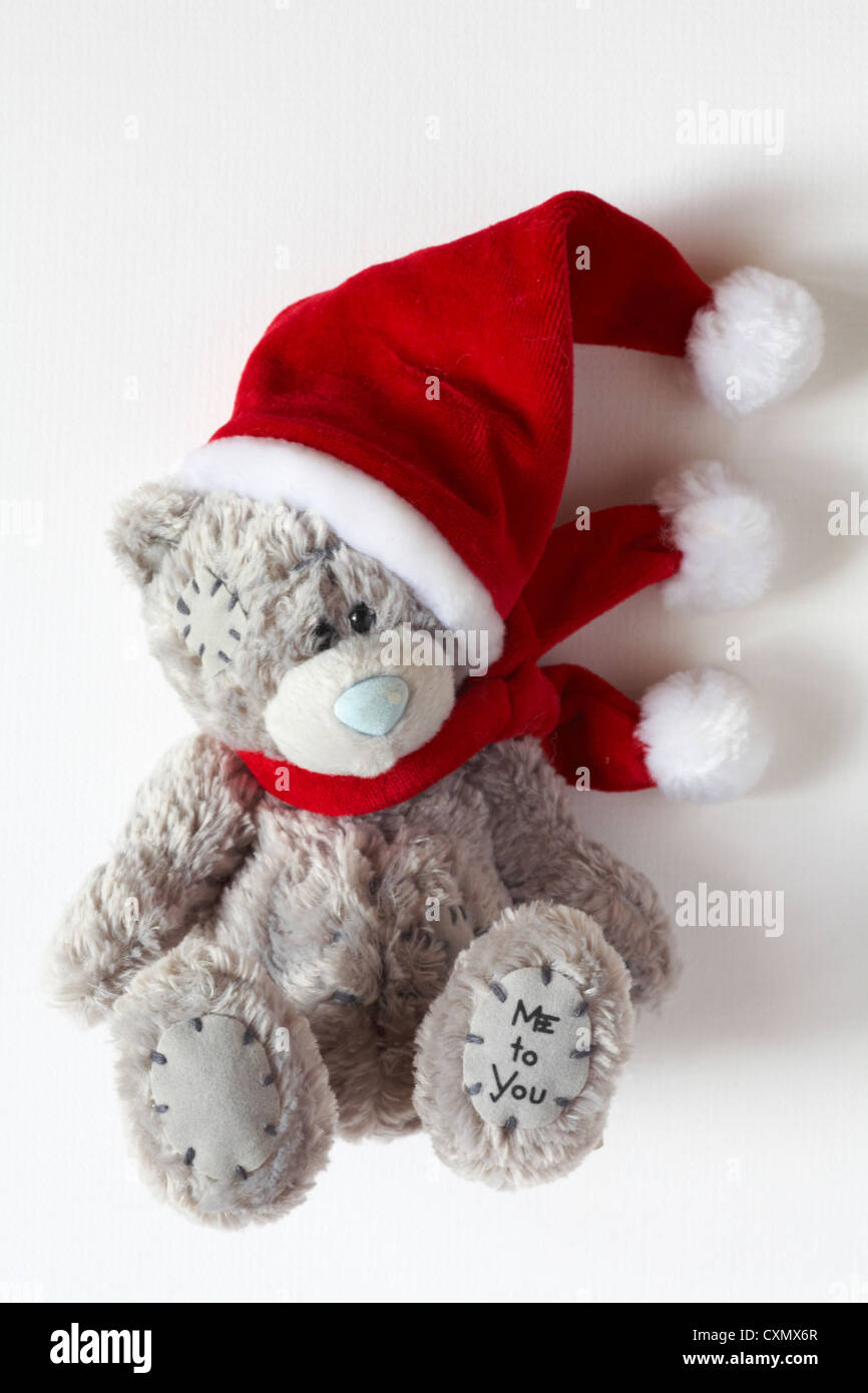 d85efdccf1f0c Me to You teddy bear wearing Santa hat and scarf isolated on white  background