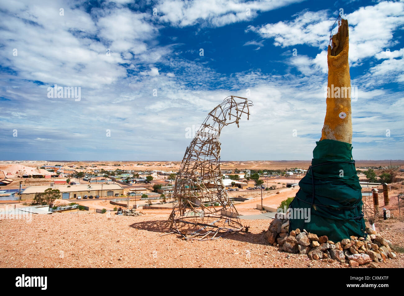 Opal City Coober Pedy in the South Australian desert. - Stock Image