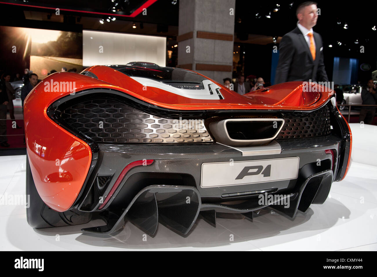 McLaren P1 Super Car At The Paris Motor Show 2012   Stock Image