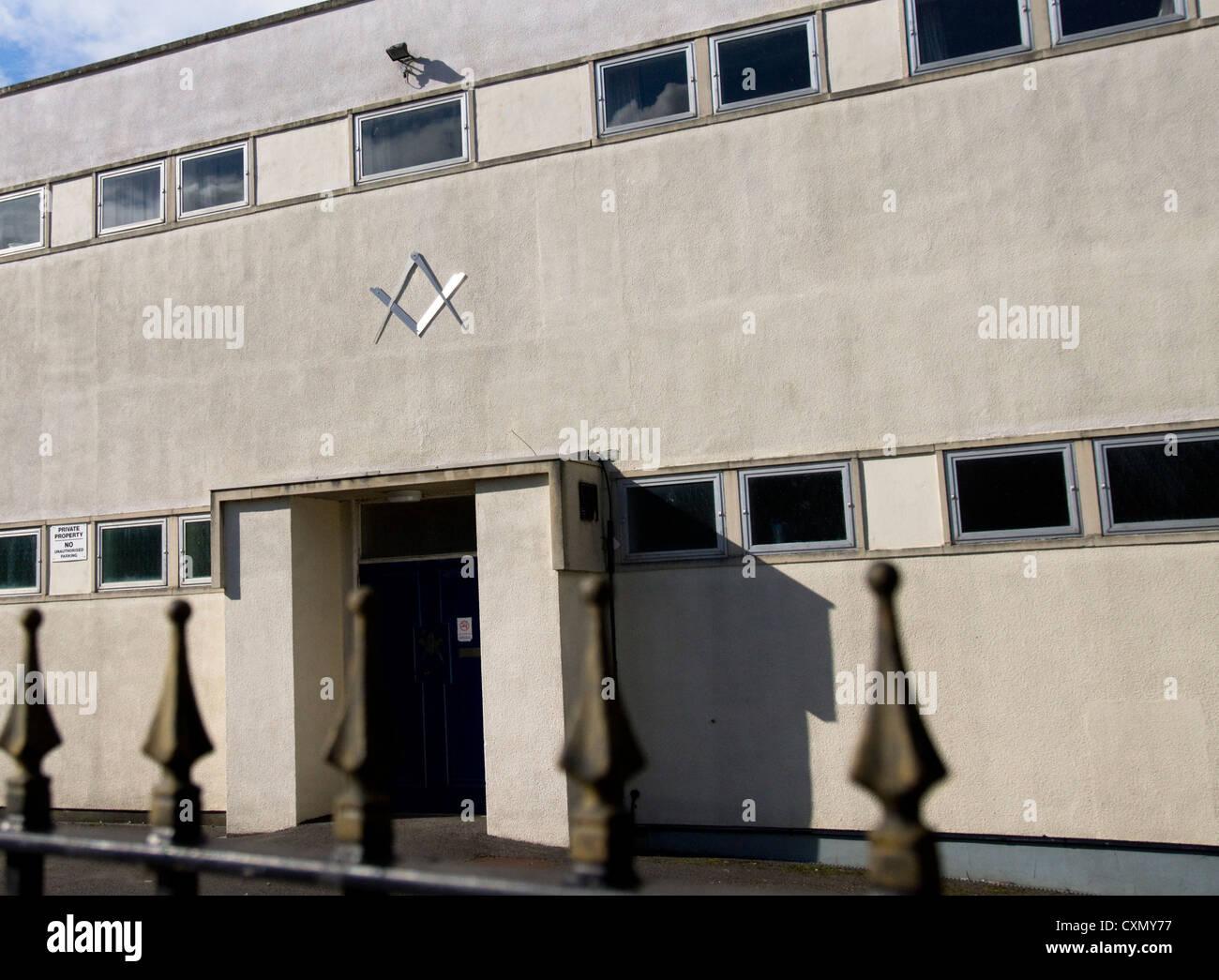 The Masonic Hall in Chippenham Wiltshire England - Stock Image