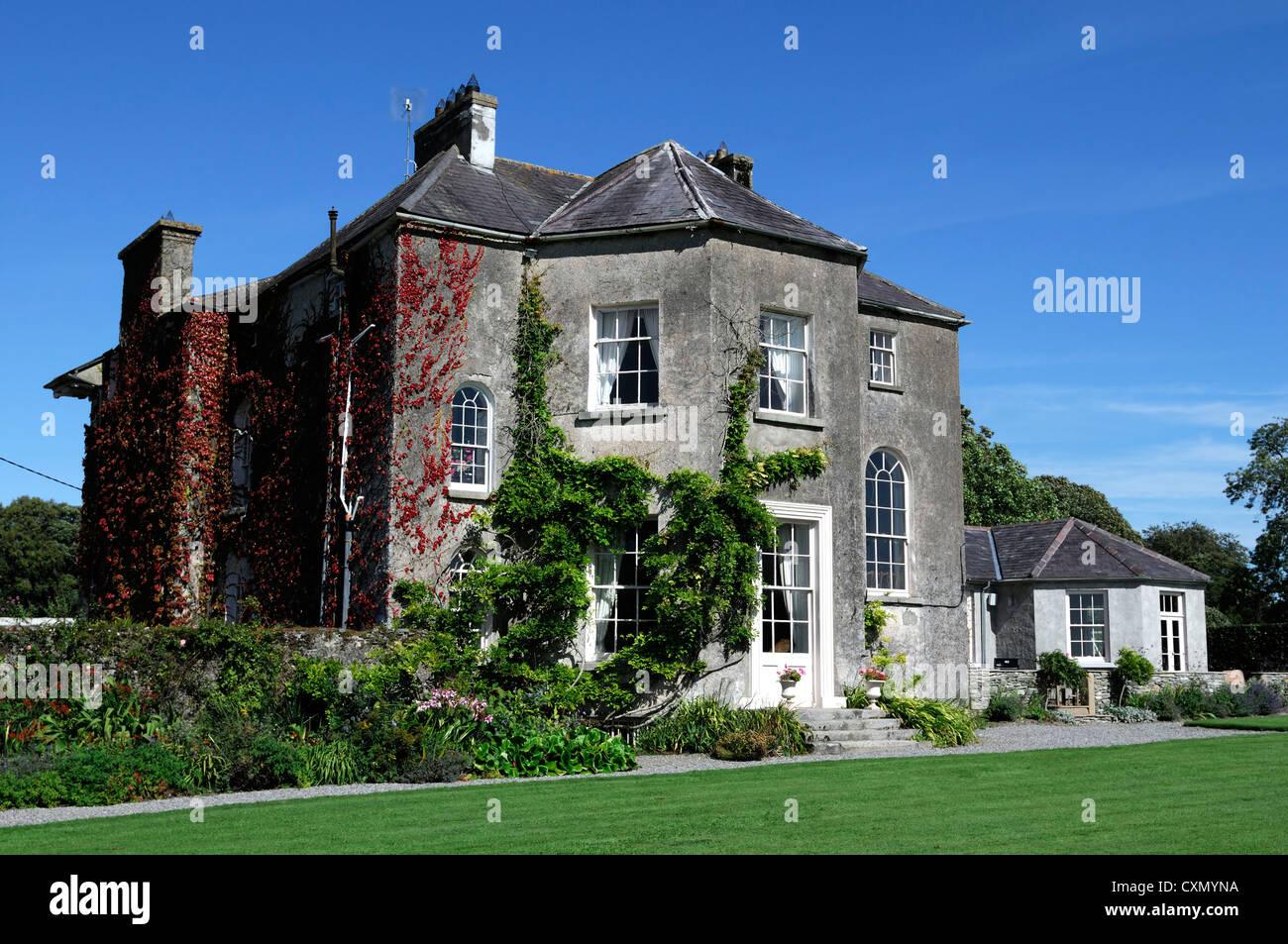 Burton House Fennell family home kildare ireland georgian villa gardens quaker robert power - Stock Image