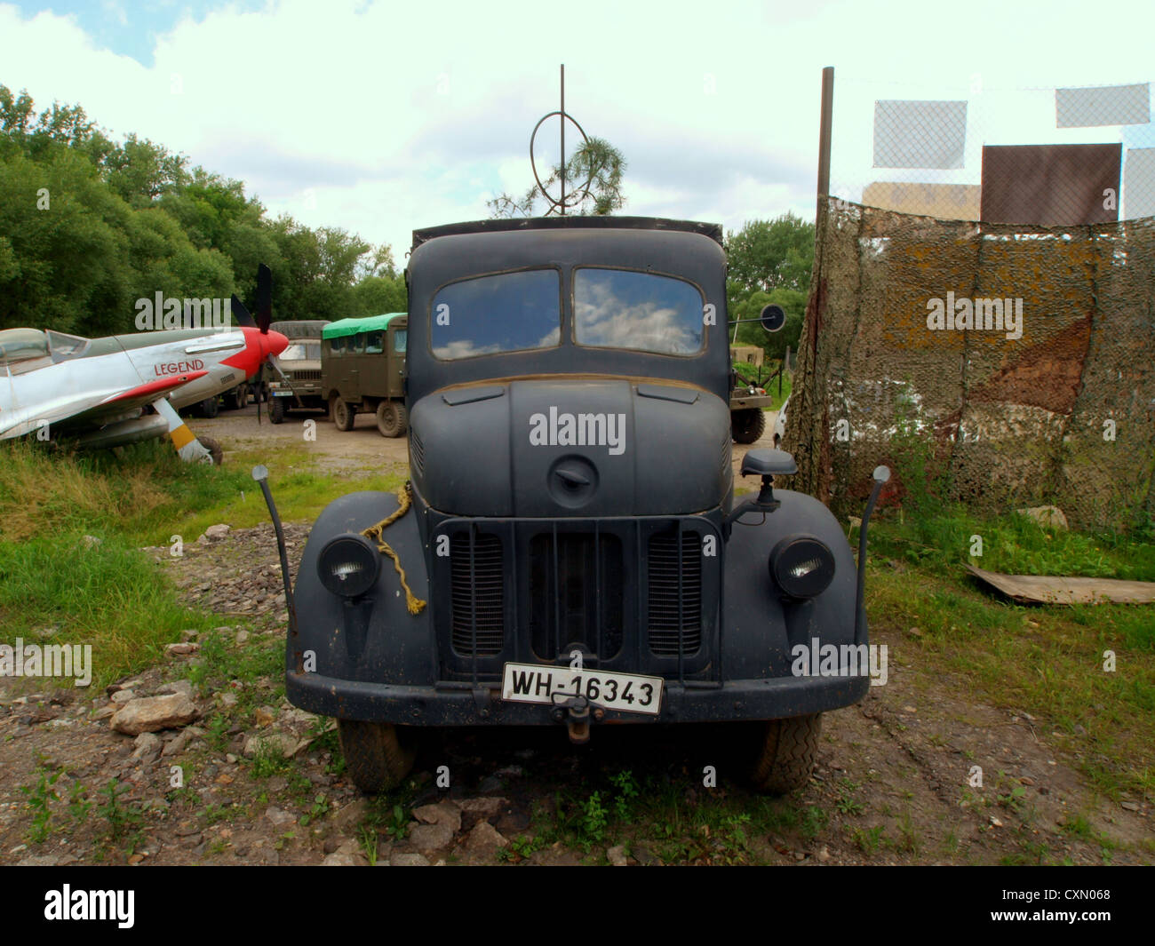Steyr 1500 radio truck - Stock Image