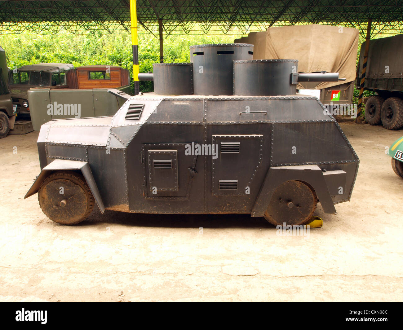 Old pre WW2 armored car - Stock Image