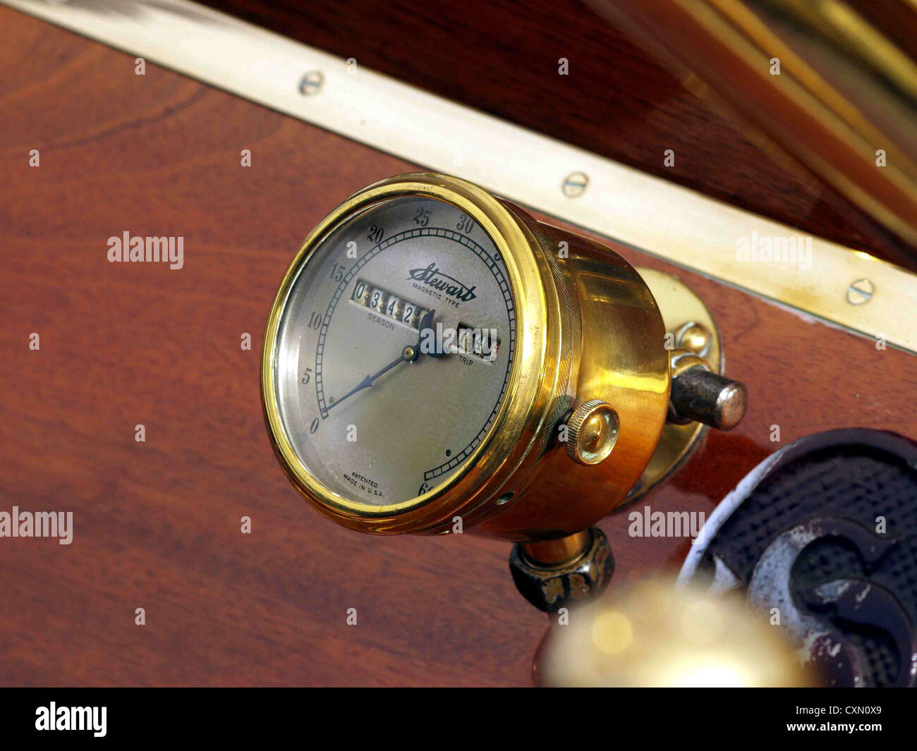 1910 Straker-Squire, Steard magnetic type spedometer. - Stock Image