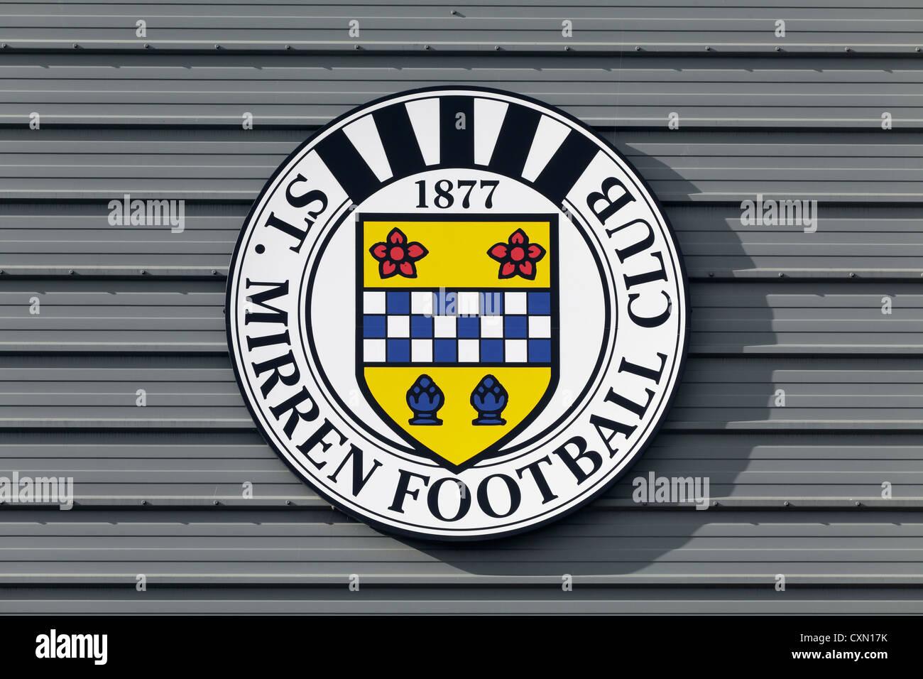 The Saint Mirren Football Club logo, Scotland, UK - Stock Image