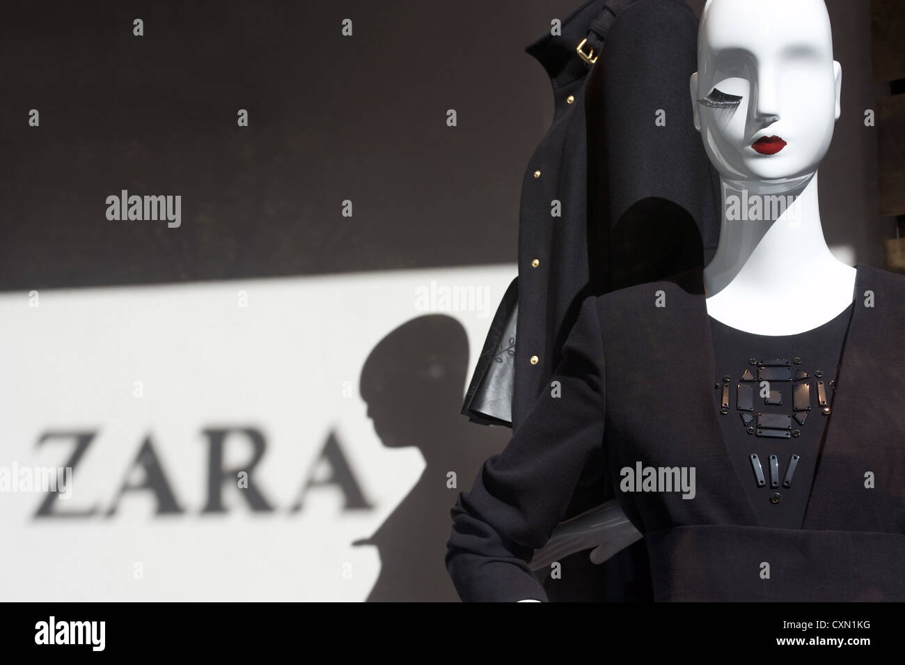 Zara clothing and accessory shop - Stock Image
