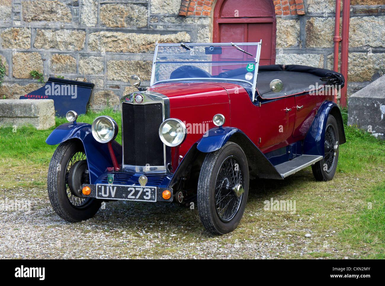 A vintage Lea-Francis motor car - Stock Image
