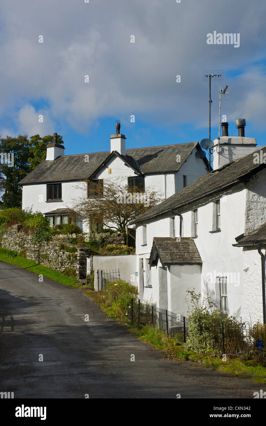 Houses in Skelwith Fold, near Ambleside, Lake District National Park, Cumbria, England UK - Stock Image