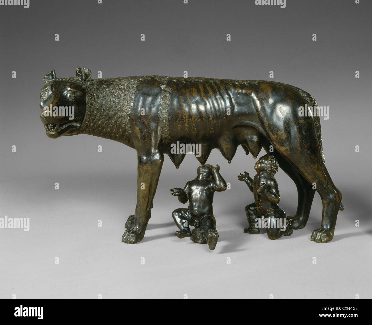 Central Italian 15th or 16th Century (Possibly Roman 15th or 16th Century), The Capitoline Wolf Suckling Romulus - Stock Image
