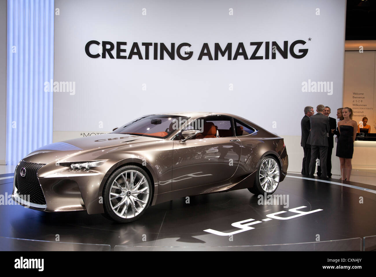 Lexus LF-CC at the Paris Motor Show 2012 Stock Photo