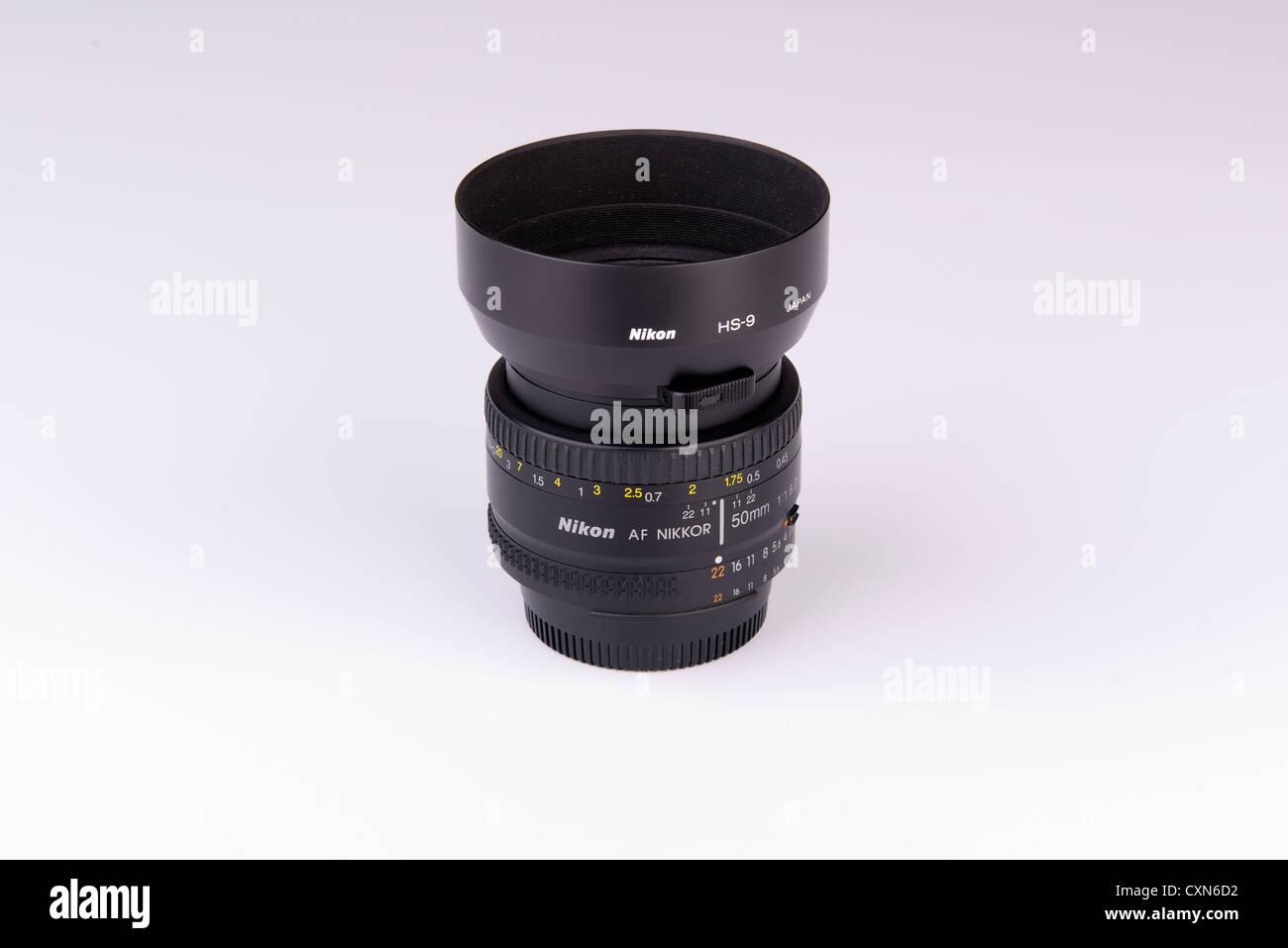 50 mm Nikon lens - Stock Image