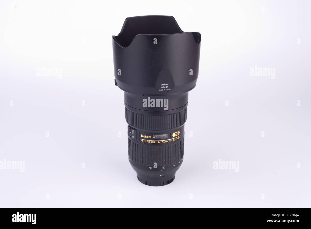 24-70 Nikon lens - Stock Image