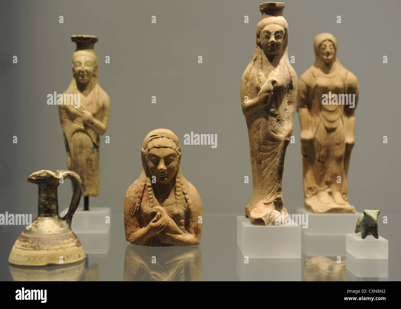 Ancient Art. Mediterranean. Sanctuary. Images of terracotta of the donor or the gods. Ny Carlsberg Glyptotek. Denmark. Stock Photo
