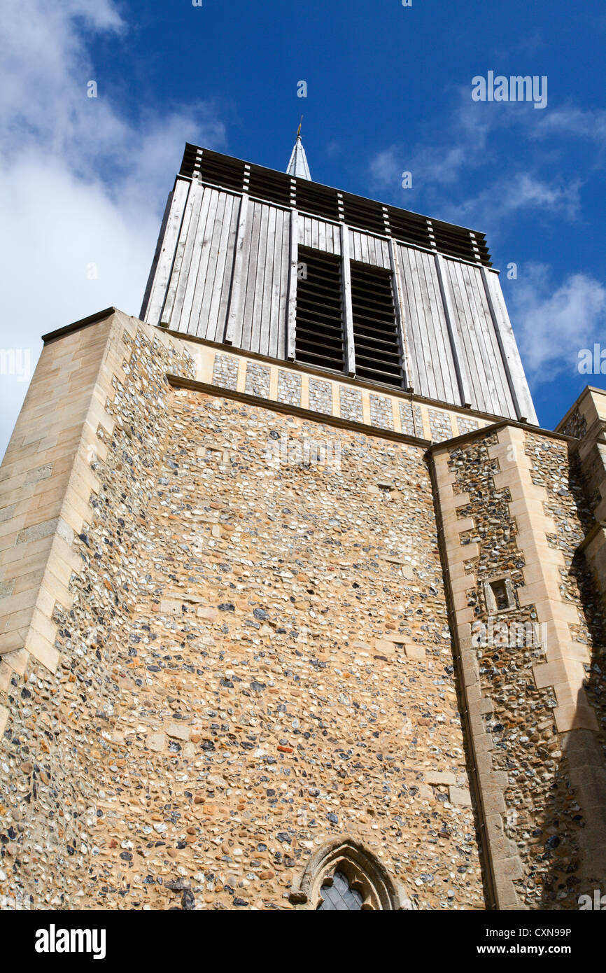 Modern Tower at the Church of St Mary Magdelene at Bildeston Suffolk England - Stock Image