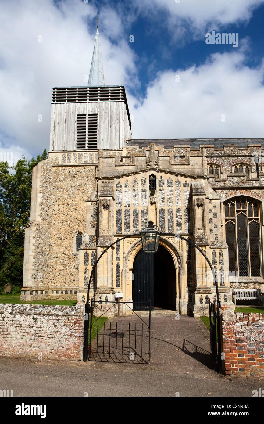 Church of St Mary Magdelene at Bildeston Suffolk England - Stock Image