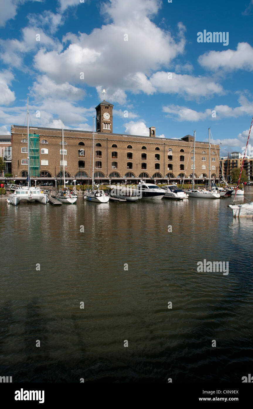 St Katharine's dock, City of London, UK - Stock Image