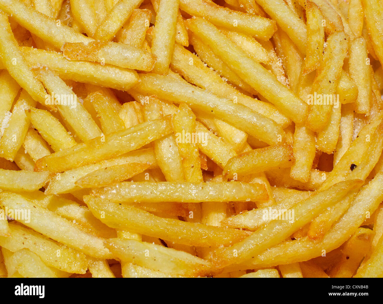 French fries background. - Stock Image