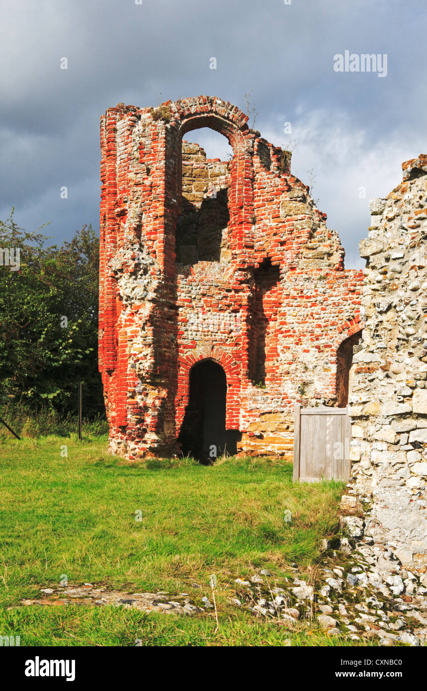A view of part of the ruins of Leiston Abbey in Suffolk, England, United Kingdom. - Stock Image