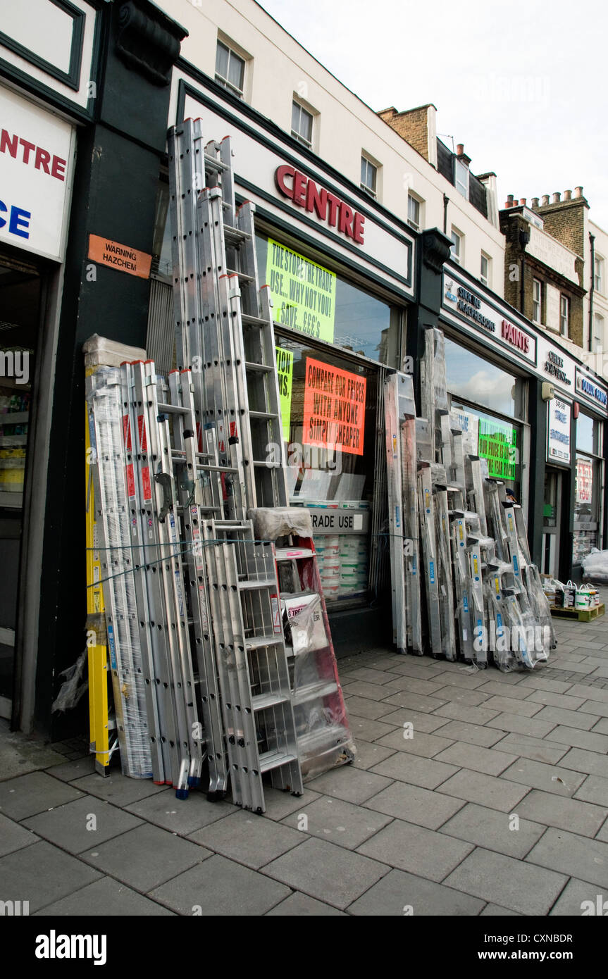 Do it yourself holloway road stock photos do it yourself holloway aluminum ladders for sale outside diy shop holloway road london borough of islington enbgland solutioingenieria Gallery