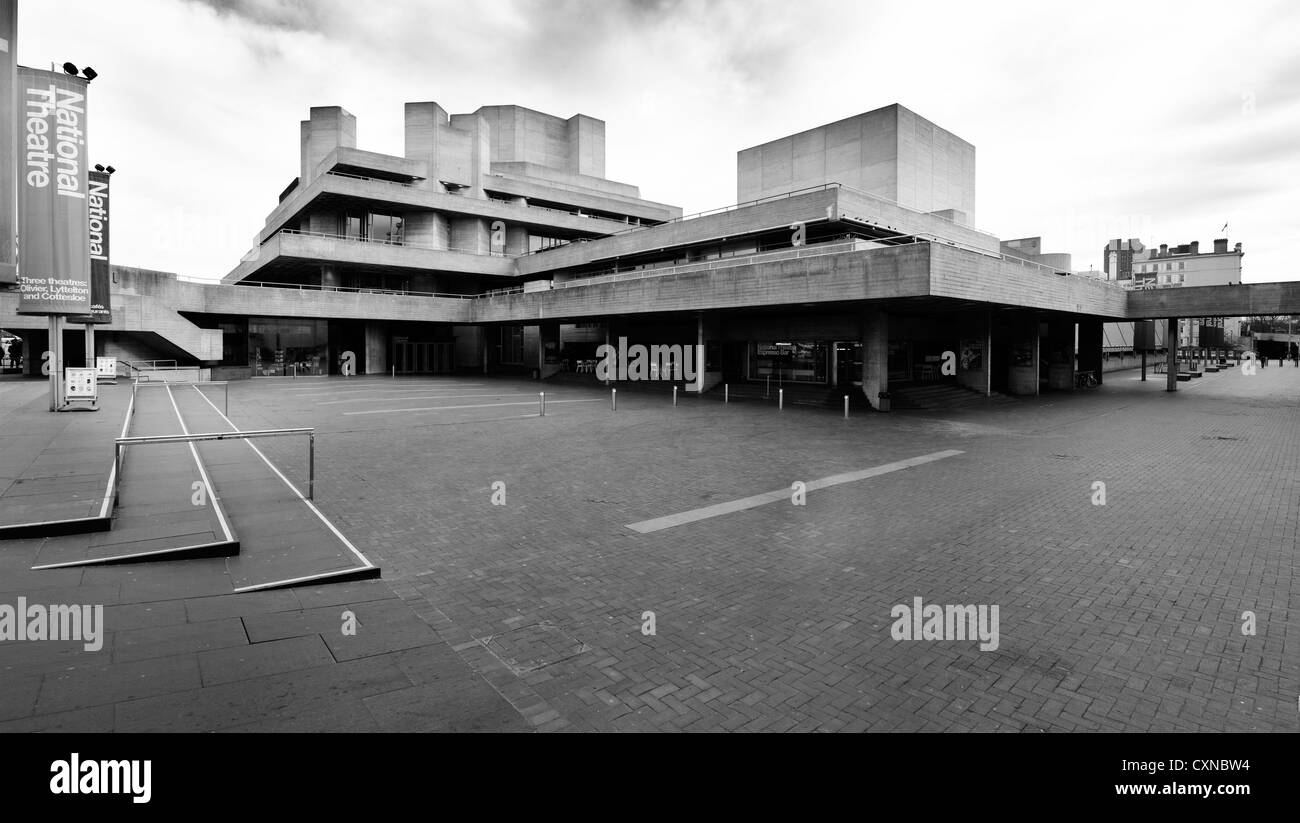 National Theatre, London, part of the South Bank Centre - Stock Image