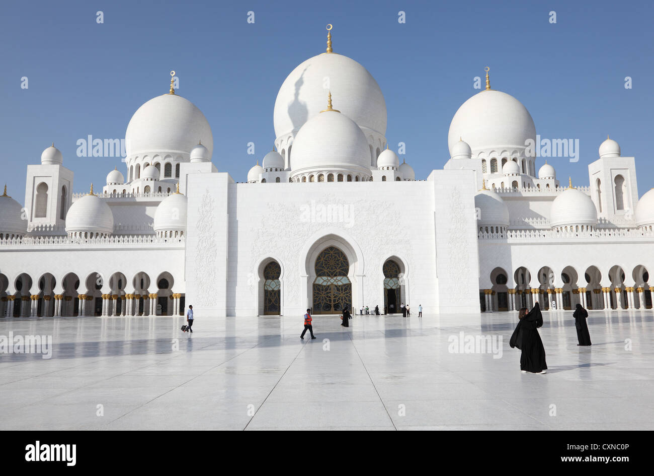 Sheikh Zayed Mosque in Abu Dhabi, United Arab Emirates - Stock Image