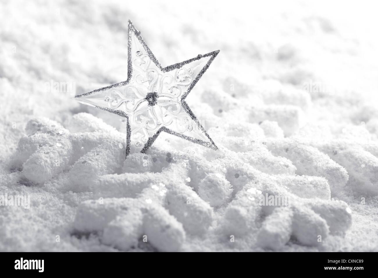 Closeup of Christmas decoration - Stock Image