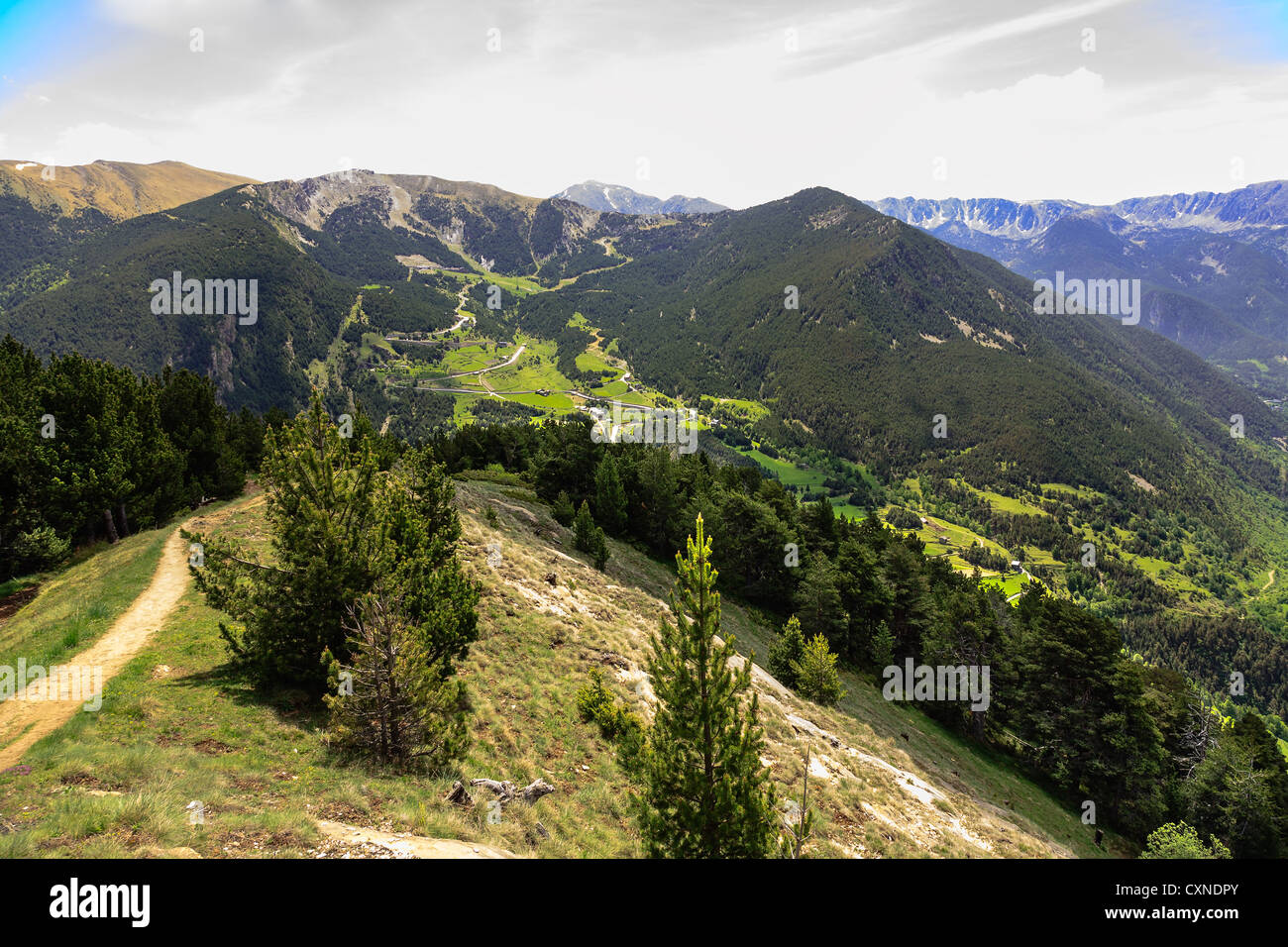 Pyrenees the beauty of Andorra - Stock Image