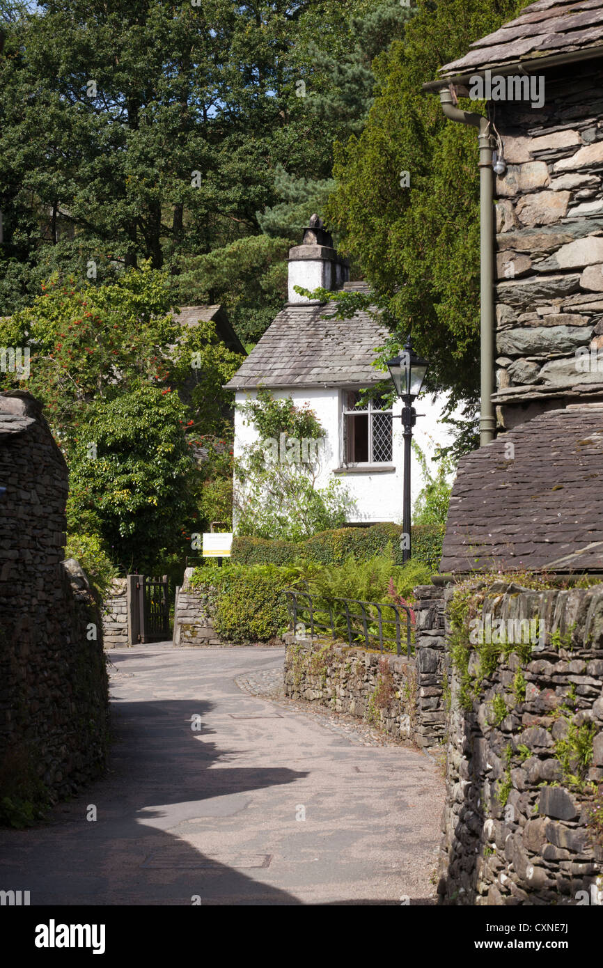 Dove Cottage, Grasmere, Cumbria in the English Lake District, UK - It was the home of the poet William Wordsworth - Stock Image