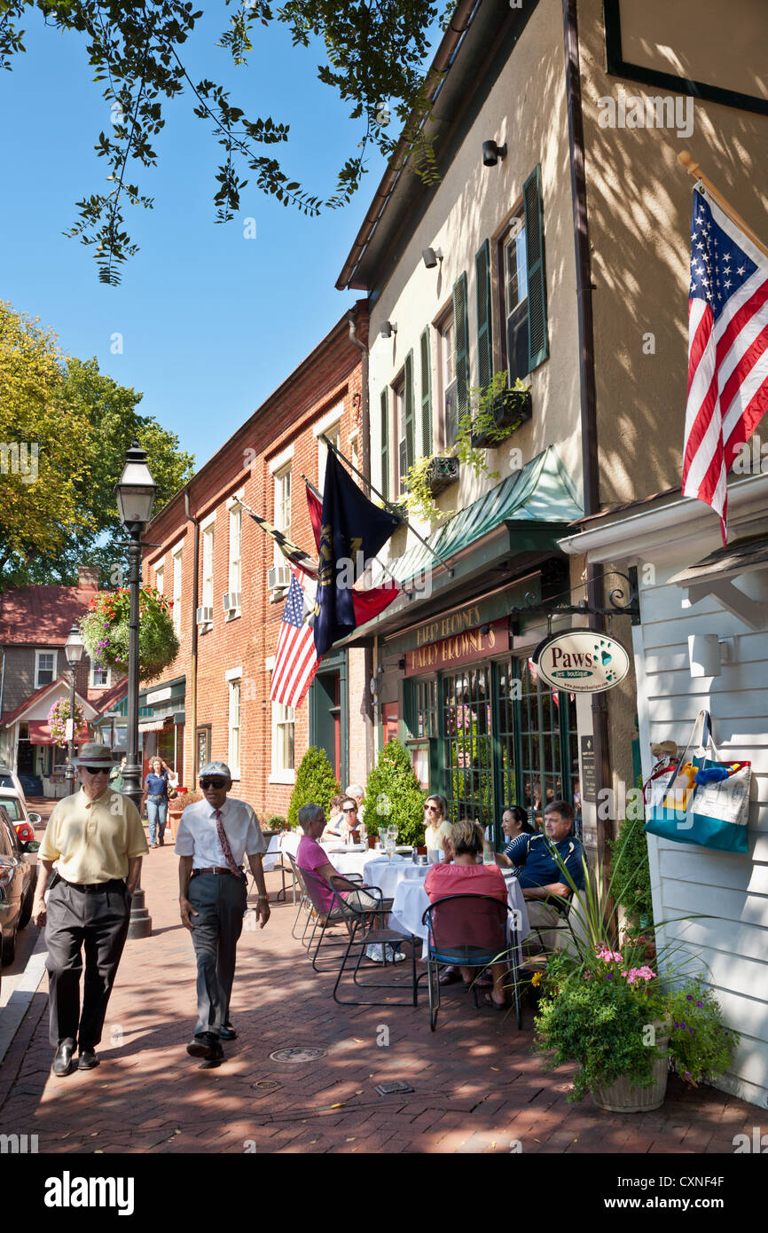 Alfresco lunch, pleasant day in Annapolis, Maryland - Stock Image