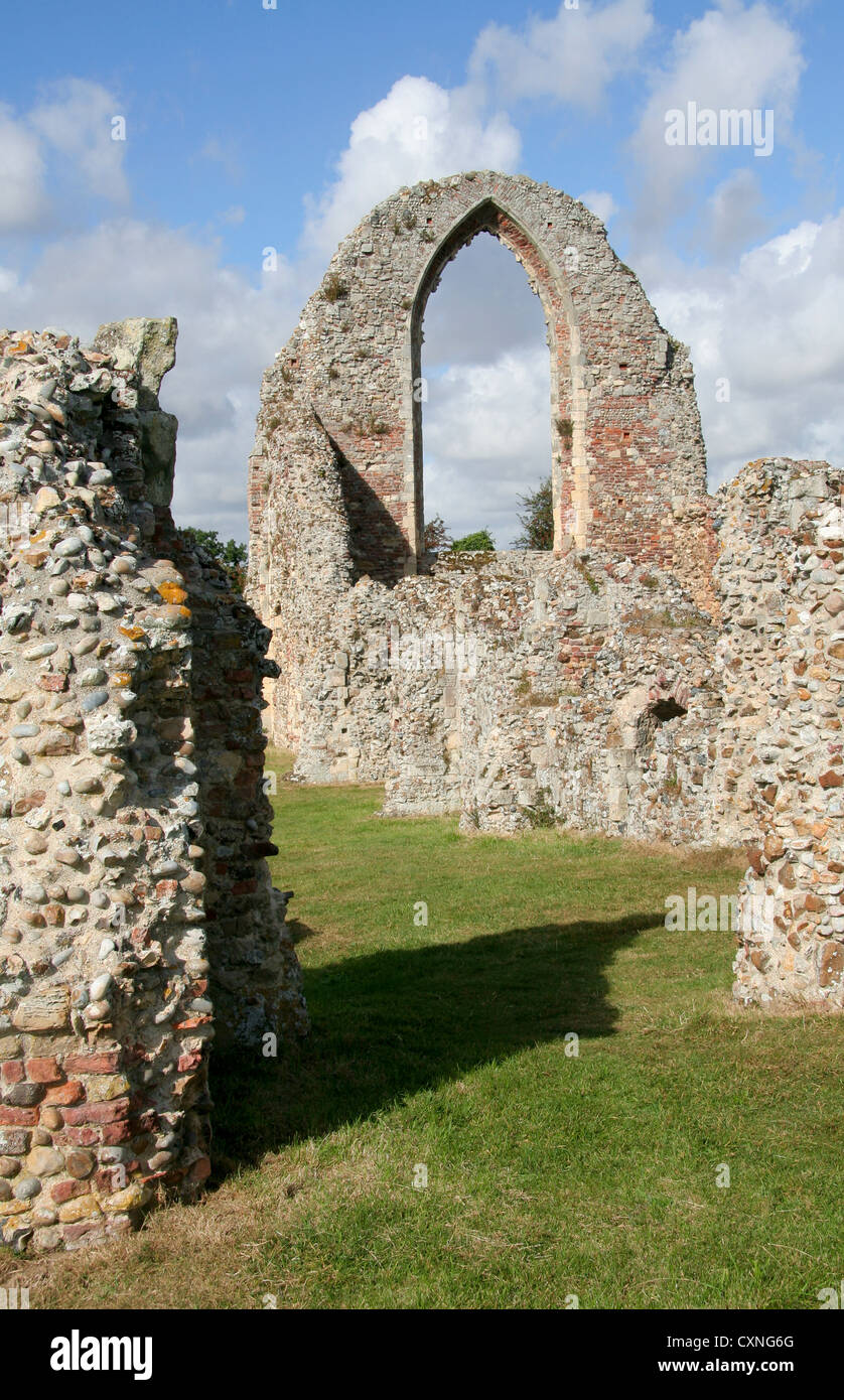 Leiston Abbey (EH) Suffolk England UK - Stock Image