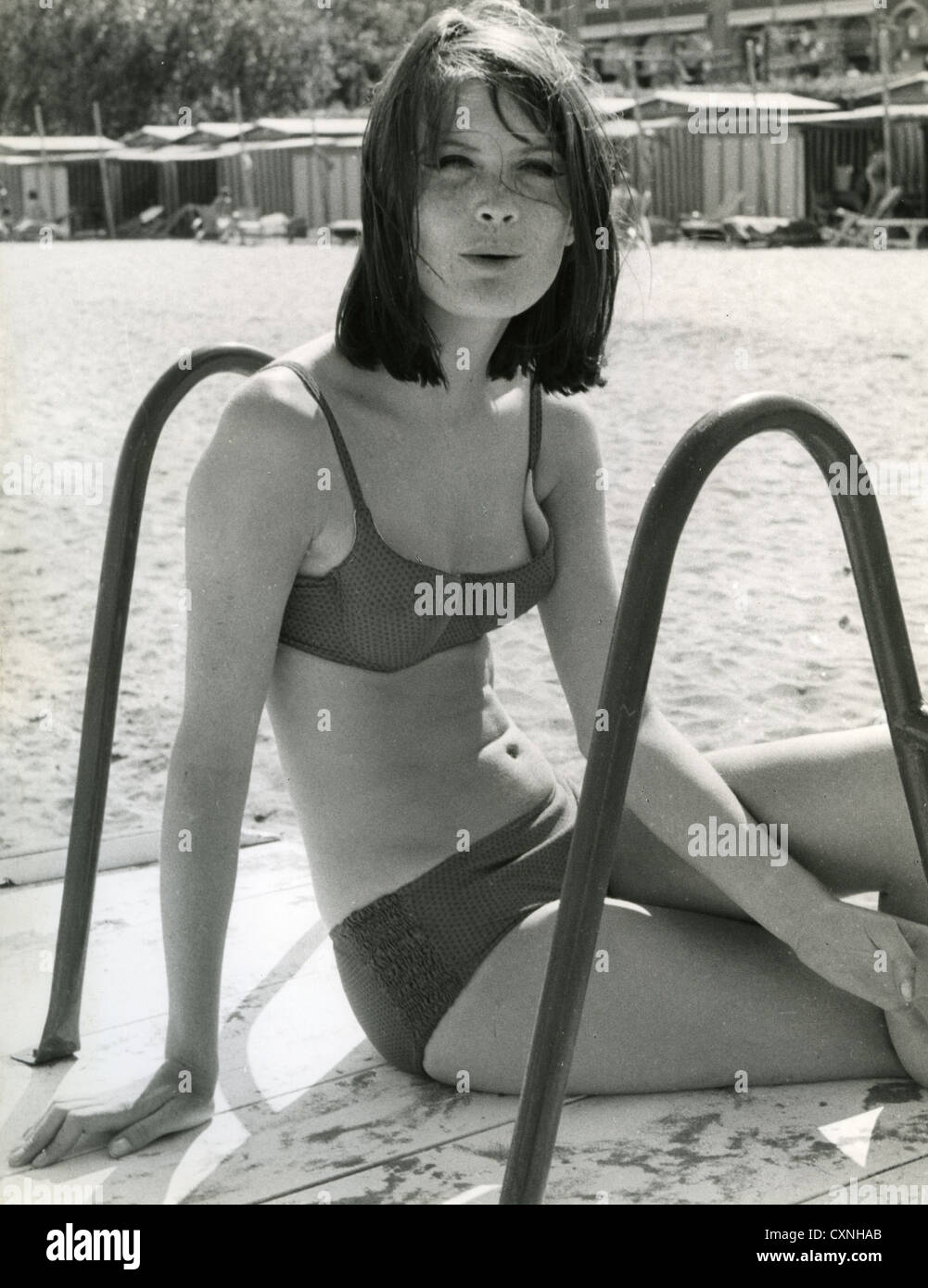 SANDIE SHAW UK pop singer in San Remo in 1967 for the ...