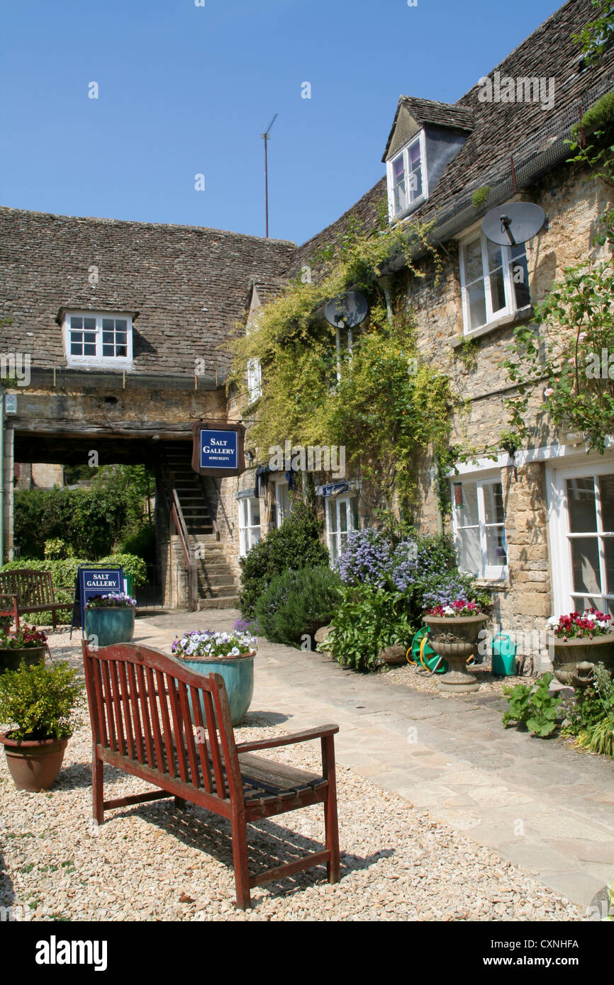 Bear Court Burford Oxfordshire England UK - Stock Image