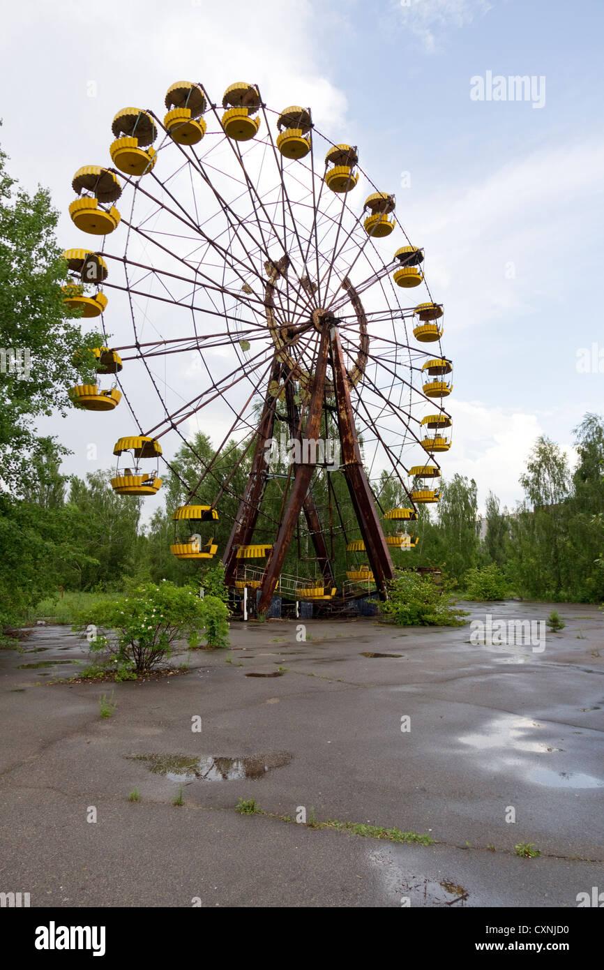 Pripyat Chernobyl Amusement Park - Stock Image