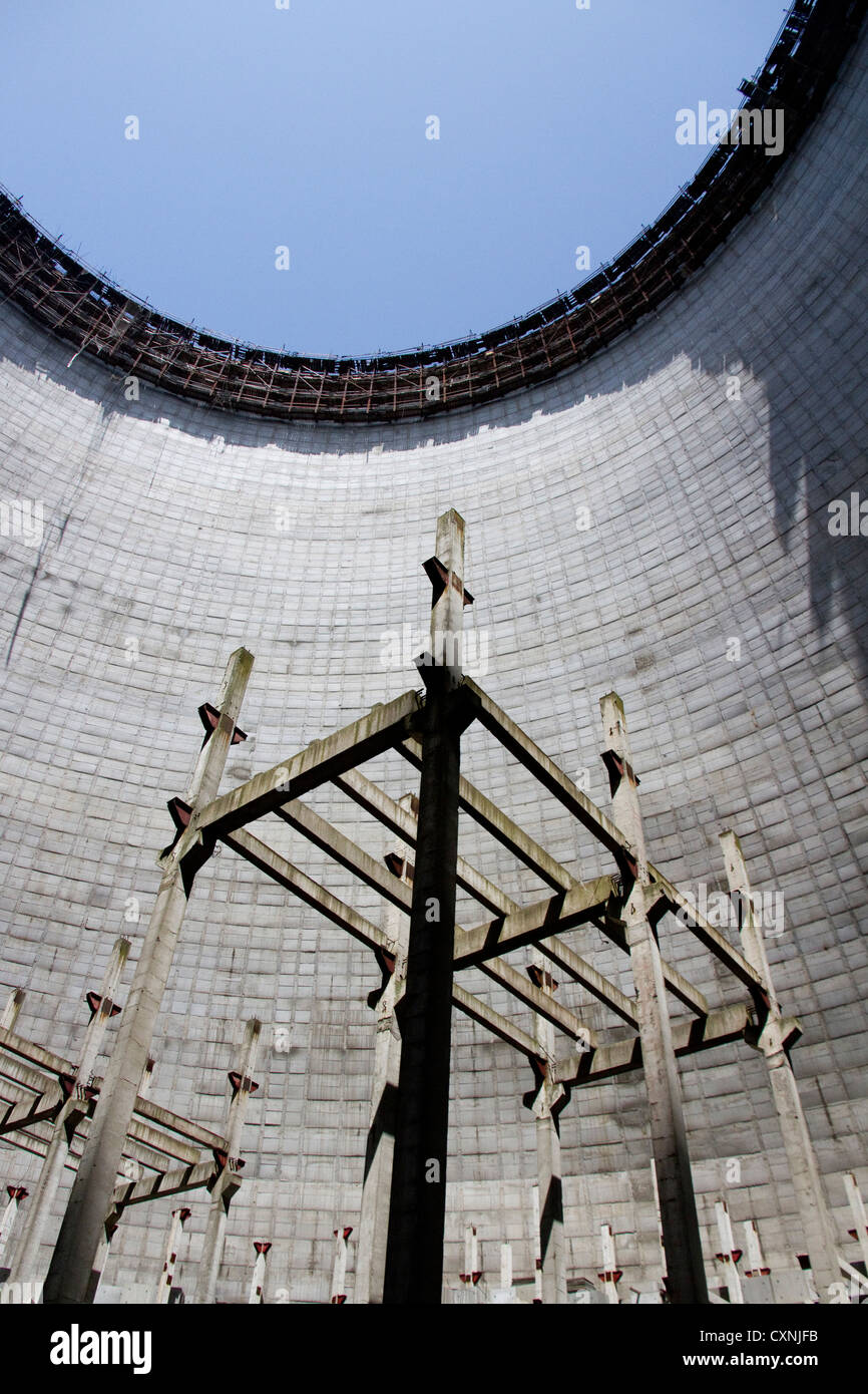 Cooling Tower at Chernobyl - Stock Image