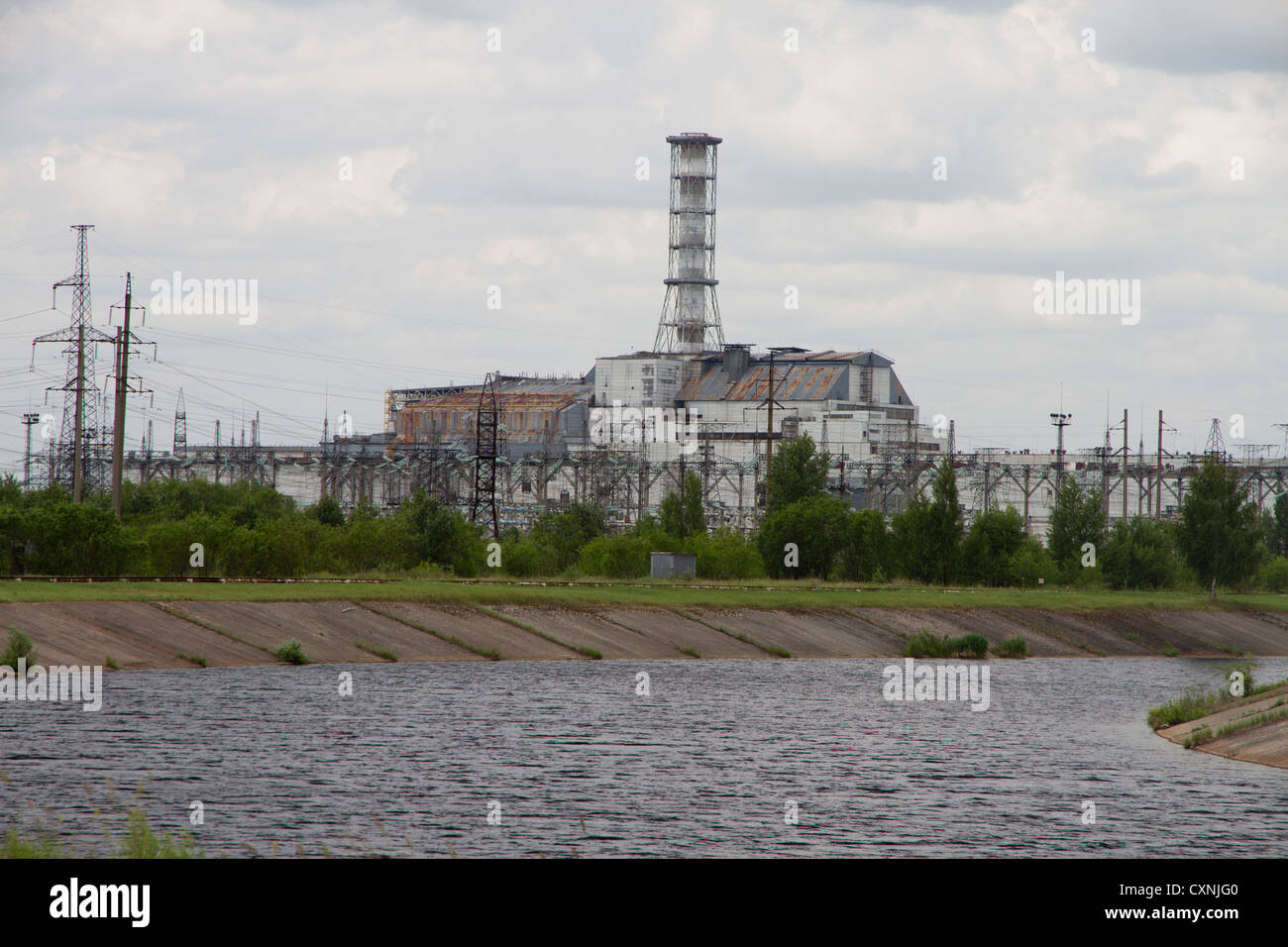 Reactor 4 building, Chernobyl Power Plant - Stock Image