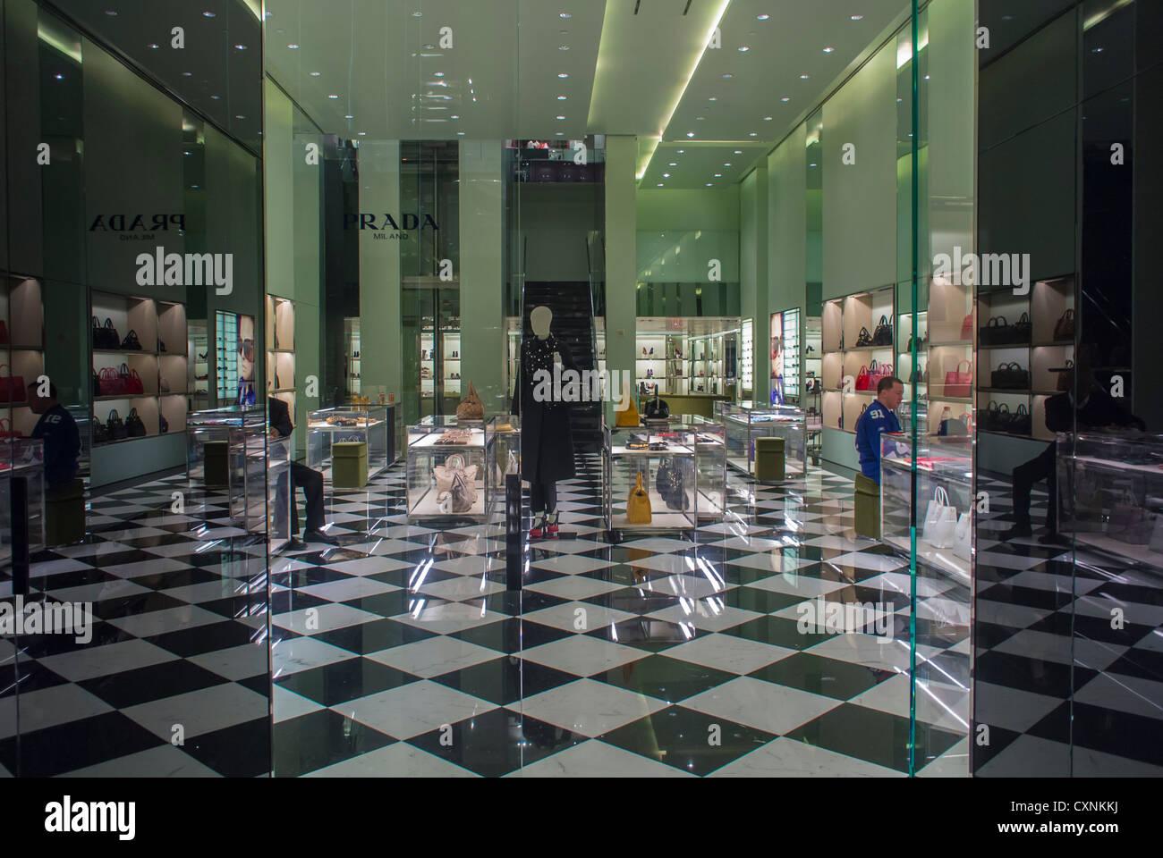 3408cd191e6 Prada Brand Clothing Store Stock Photos   Prada Brand Clothing Store ...