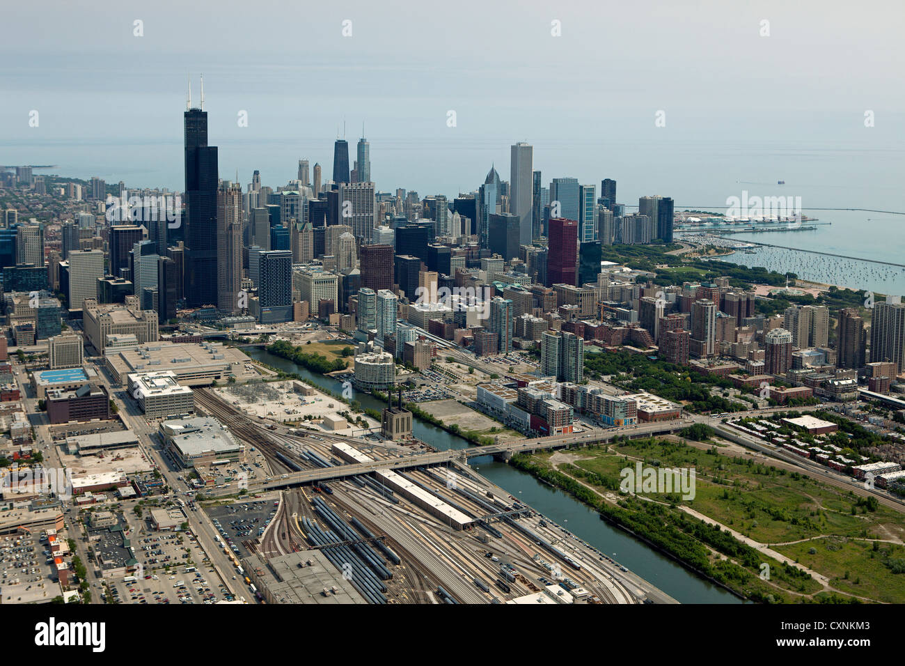 aerial photograph Chicago, Illinois - Stock Image