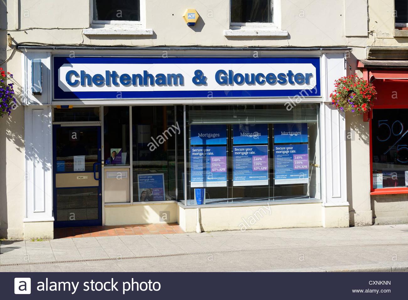 Highstreet branch of C&G bank, Okehampton, Devon, England - Stock Image