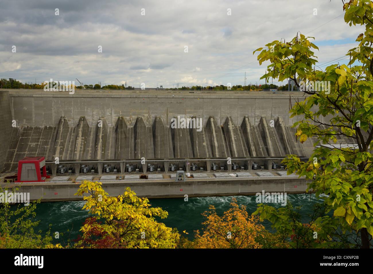 Robert Moses Niagara Power Plant Niagara Falls New York USA - Stock Image
