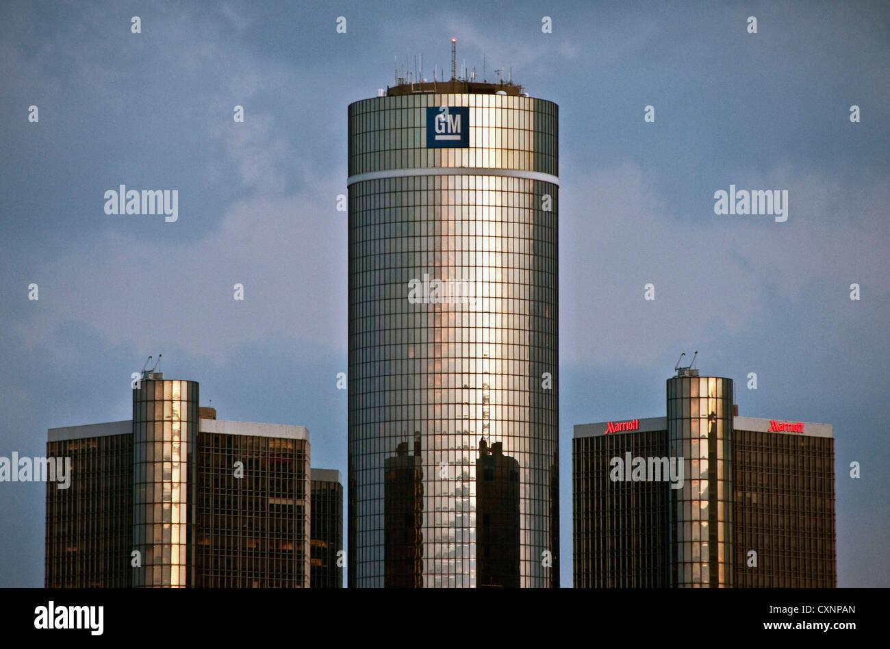 General Motors headquarters in Detroit's Renaissance Center - Stock Image