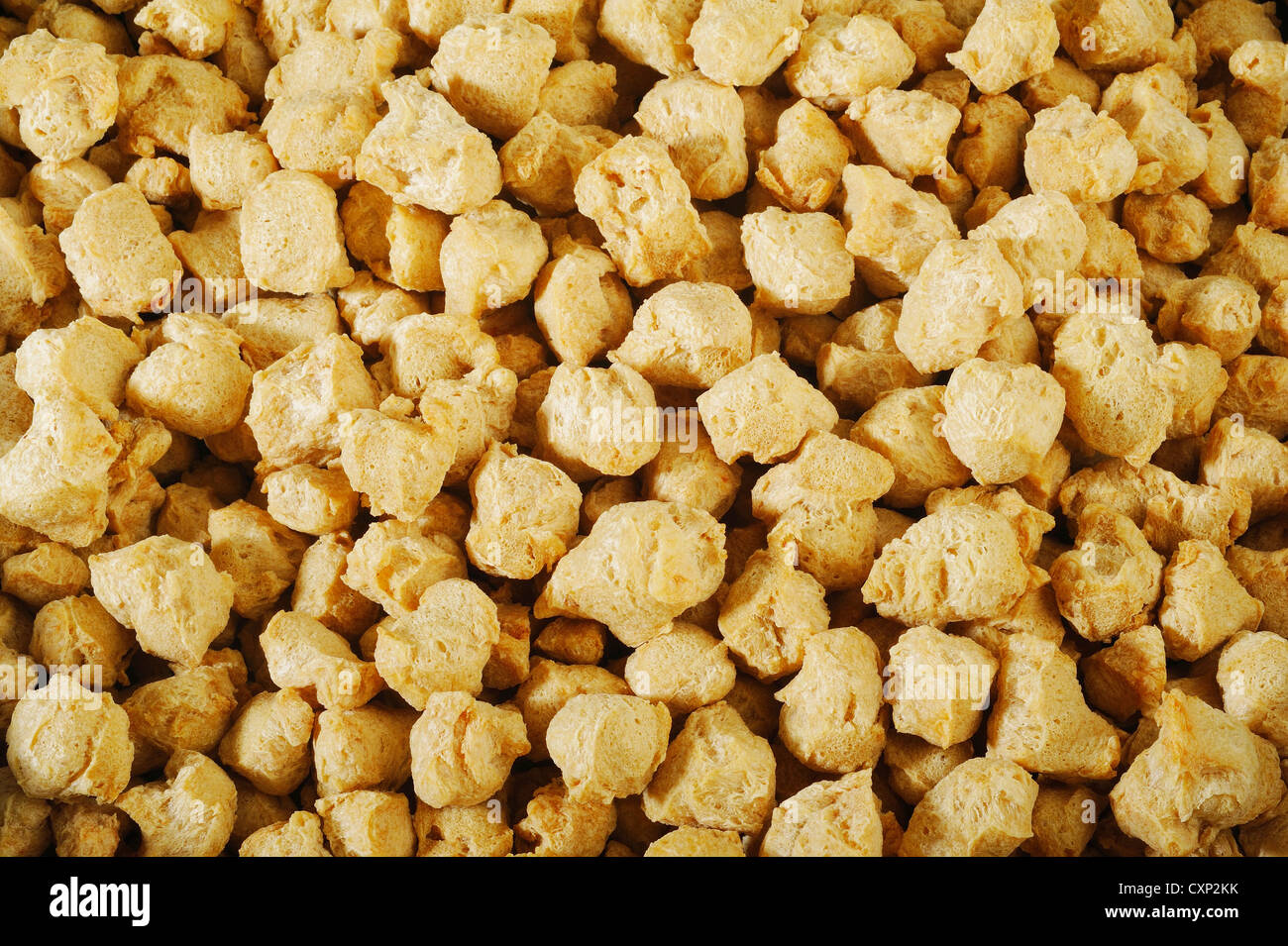 agriculture protein,soya flakes,vegetable protein background - Stock Image
