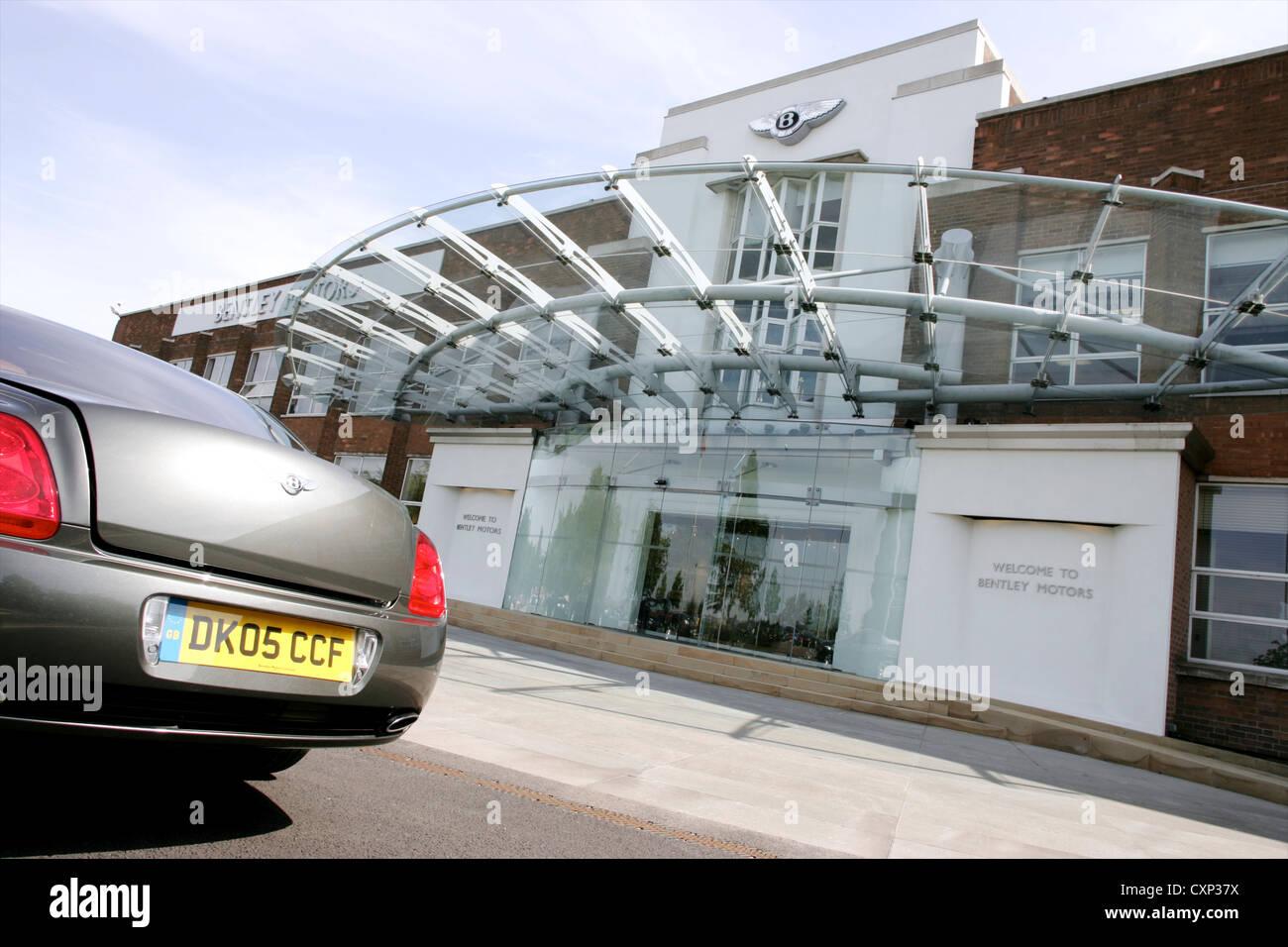 Bentley Continental Flying Spur outside Bentley Motors Crewe UK - Stock Image
