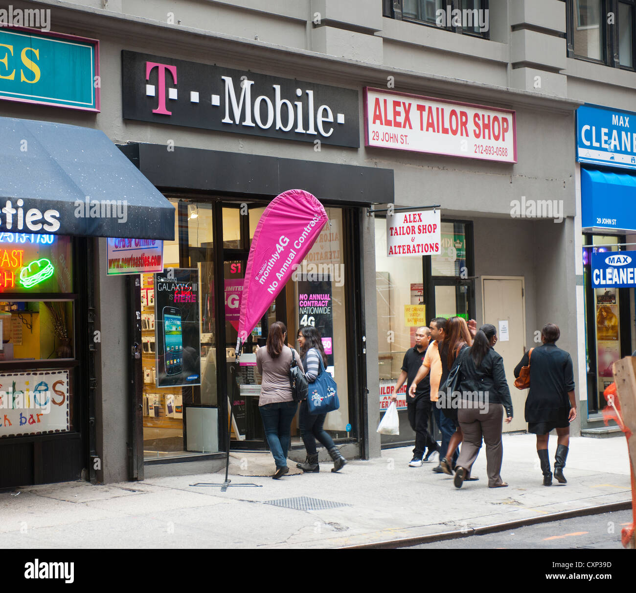 A T Mobile Usa Store Is Seen In Lower Manhattan In New York Stock