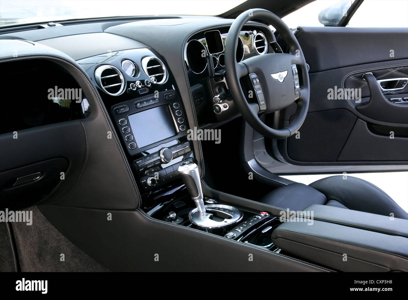 Front Interior Of Bentley Continental Gt Stock Photo Alamy