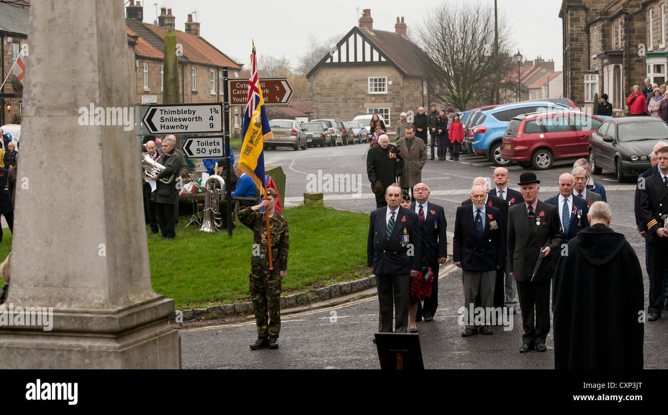 Remembrance Day Sunday Osmotherley Village North Yorkshire England - Stock Image