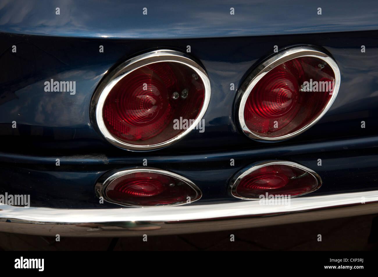 1966 Corvette Sting Ray tail lights - Stock Image